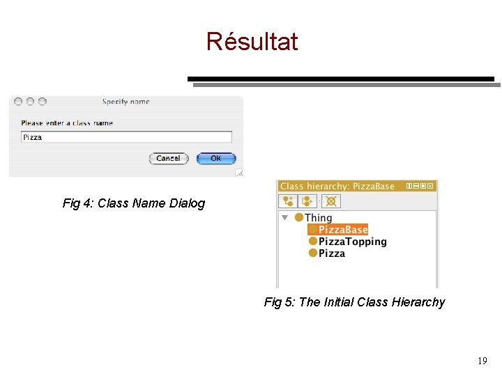 Résultat Fig 4: Class Name Dialog Fig 5: The Initial Class Hierarchy 19