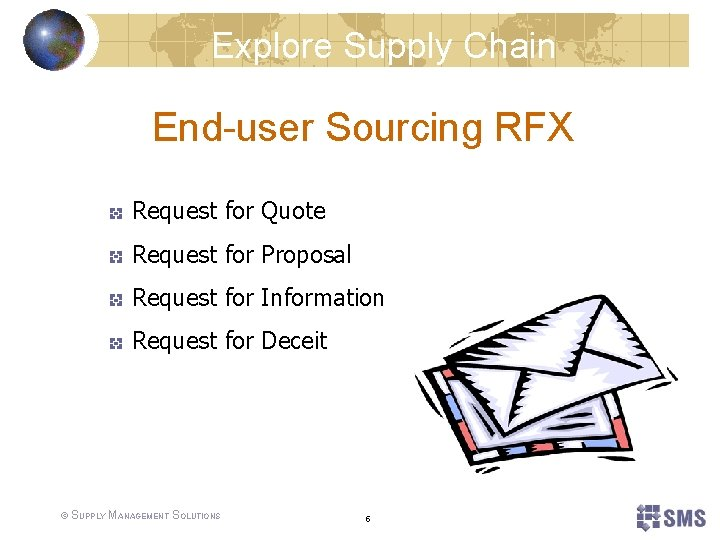 Explore Supply Chain End-user Sourcing RFX Request for Quote Request for Proposal Request for