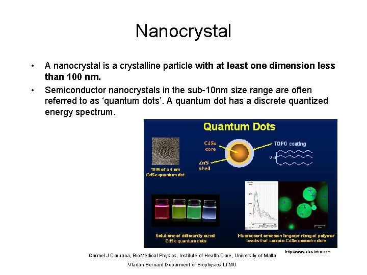 Nanocrystal • • A nanocrystal is a crystalline particle with at least one dimension