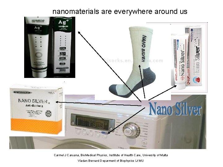 nanomaterials are everywhere around us Carmel J Caruana, Bio. Medical Physics, Institute of Health