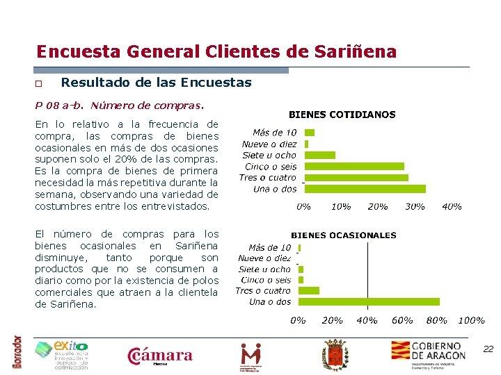 Encuesta General Clientes de Sariñena o Resultado de las Encuestas P 08 a-b. Número