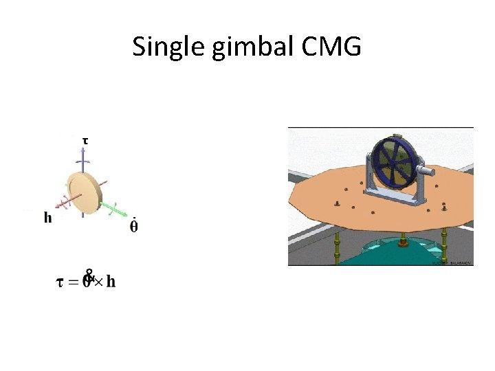 Single gimbal CMG