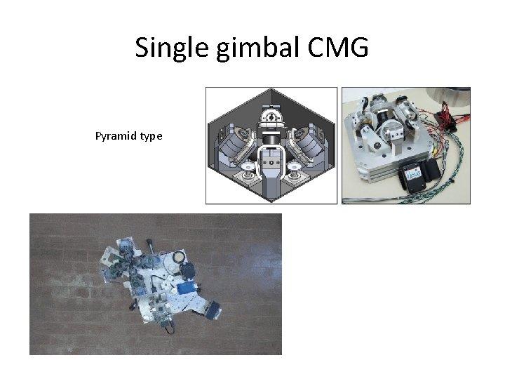 Single gimbal CMG Pyramid type