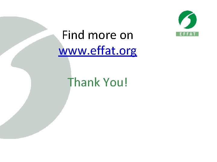 Find more on www. effat. org Thank You!