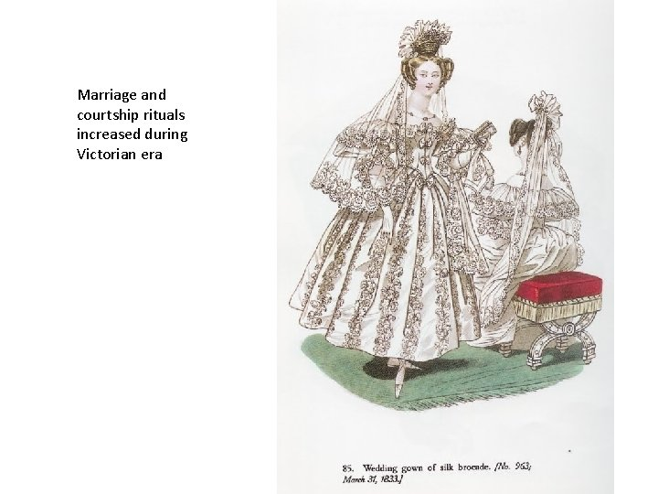 Marriage and courtship rituals increased during Victorian era