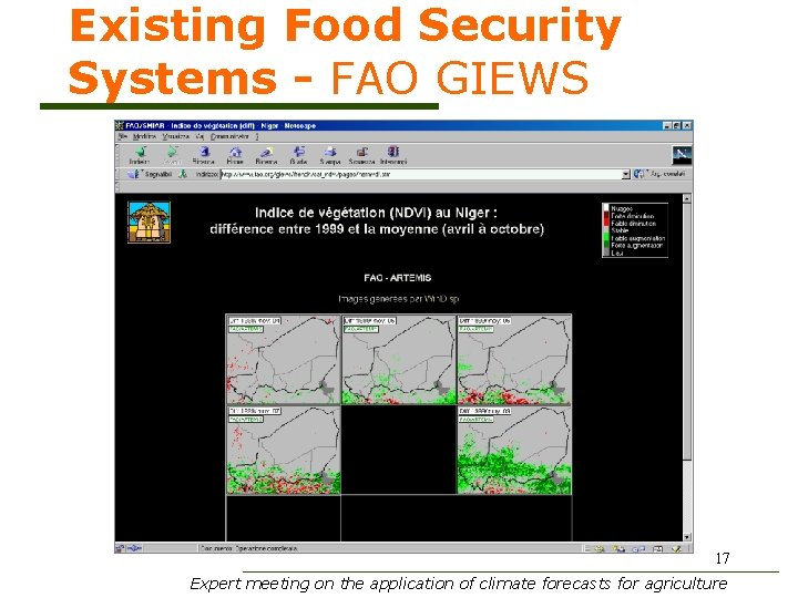 Existing Food Security Systems - FAO GIEWS 17 Expert meeting on the application of