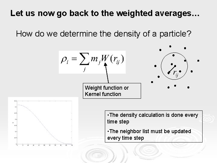 Let us now go back to the weighted averages… How do we determine the