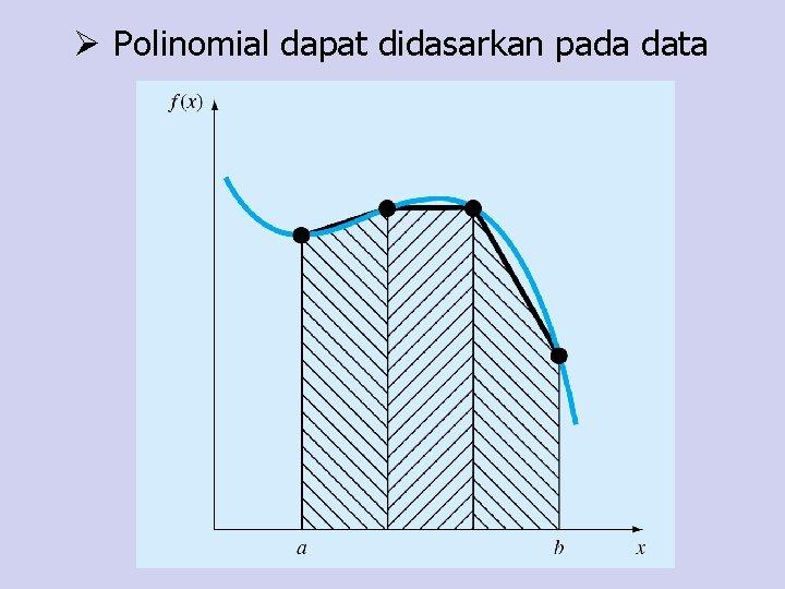 Ø Polinomial dapat didasarkan pada data
