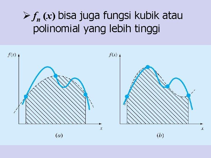 Ø fn (x) bisa juga fungsi kubik atau polinomial yang lebih tinggi