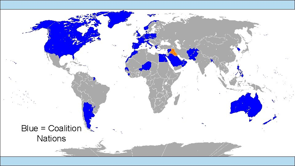 Blue = Coalition Nations