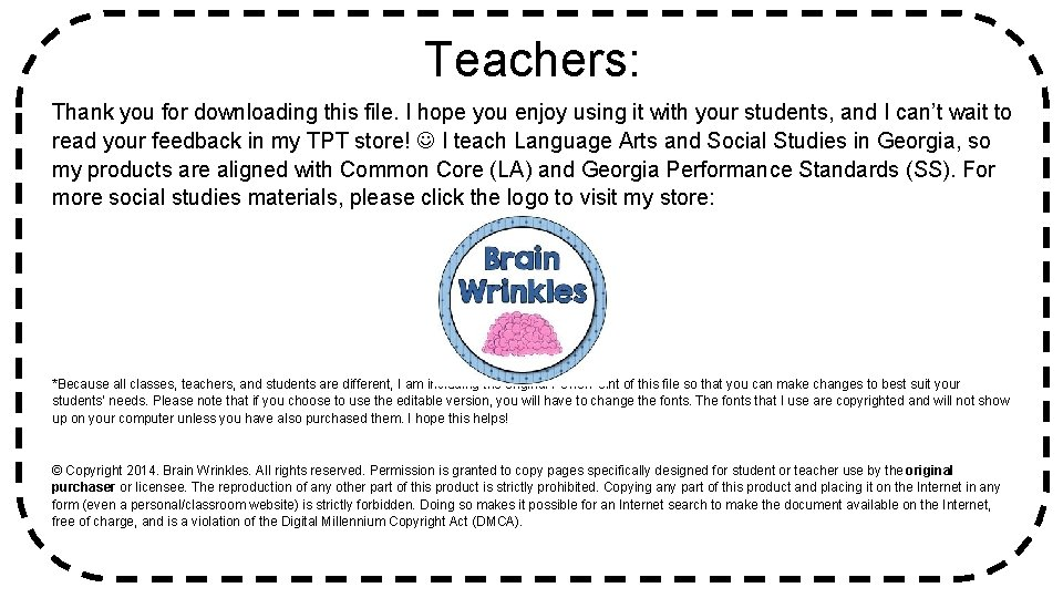 Teachers: Thank you for downloading this file. I hope you enjoy using it with