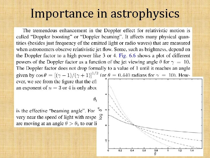 Importance in astrophysics