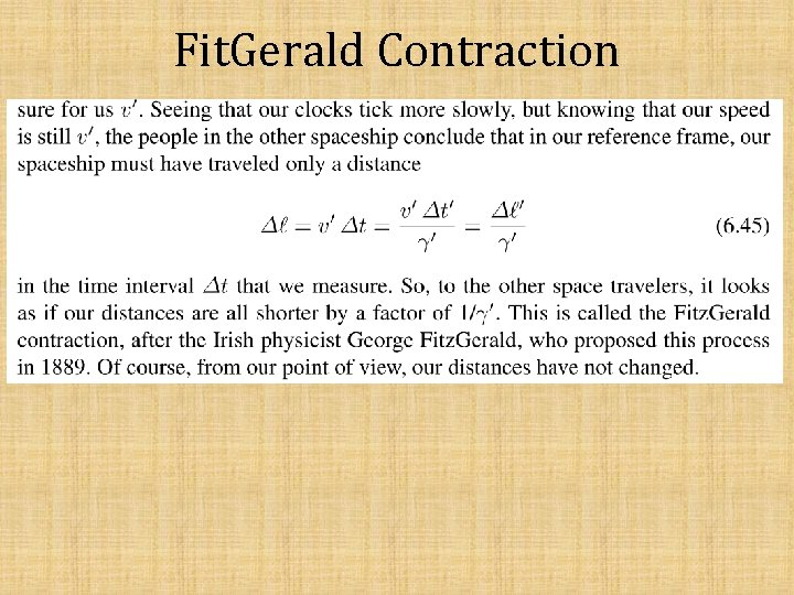 Fit. Gerald Contraction
