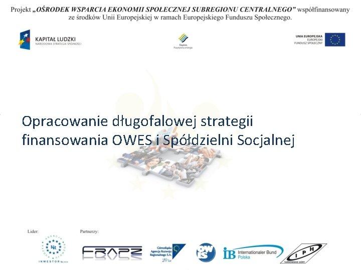 Opracowanie długofalowej strategii finansowania OWES i Spółdzielni Socjalnej