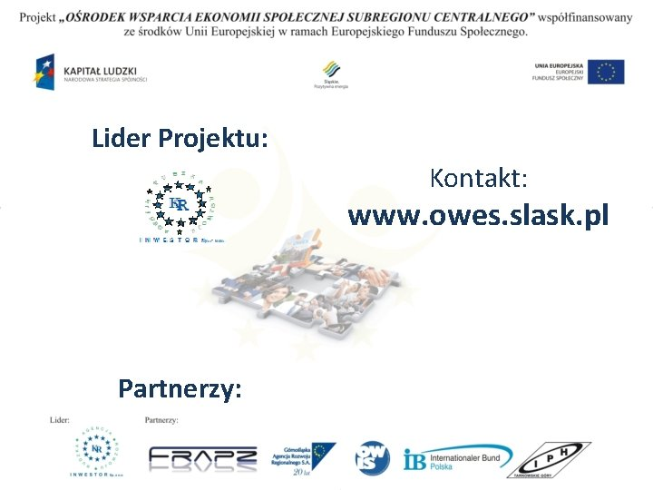 Lider Projektu: Kontakt: www. owes. slask. pl Partnerzy: