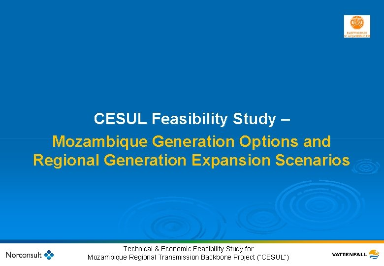 CESUL Feasibility Study – Mozambique Generation Options and Regional Generation Expansion Scenarios 15 ©