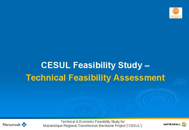 CESUL Feasibility Study – Technical Feasibility Assessment 20 © Vattenfall AB Technical & Economic