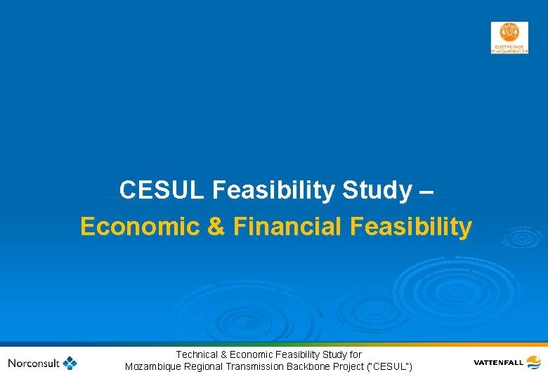 CESUL Feasibility Study – Economic & Financial Feasibility 37 © Vattenfall AB Technical &