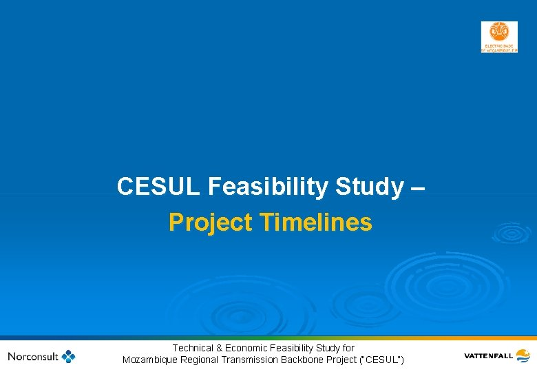 CESUL Feasibility Study – Project Timelines 46 © Vattenfall AB Technical & Economic Feasibility
