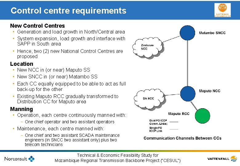 Control centre requirements New Control Centres • Generation and load growth in North/Central area