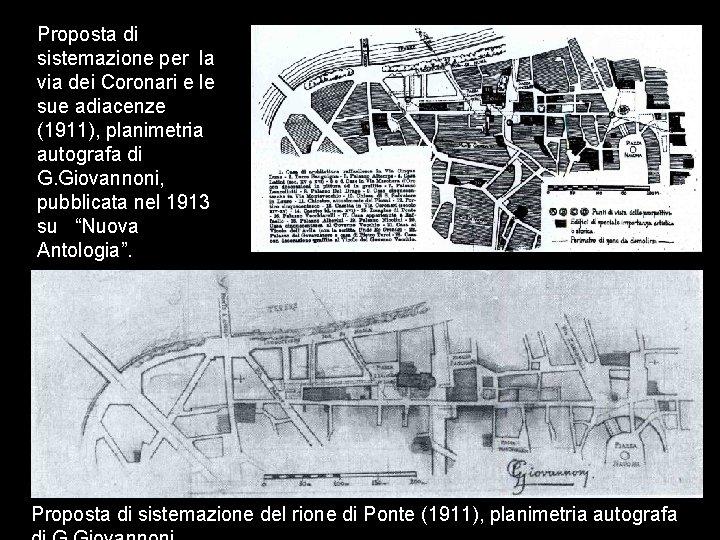Proposta di sistemazione per la via dei Coronari e le sue adiacenze (1911), planimetria