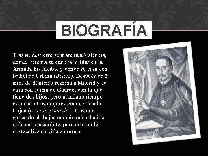 BIOGRAFÍA Tras su destierro se marcha a Valencia, donde retoma su carrera militar en
