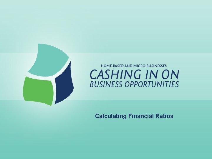 Calculating Financial Ratios