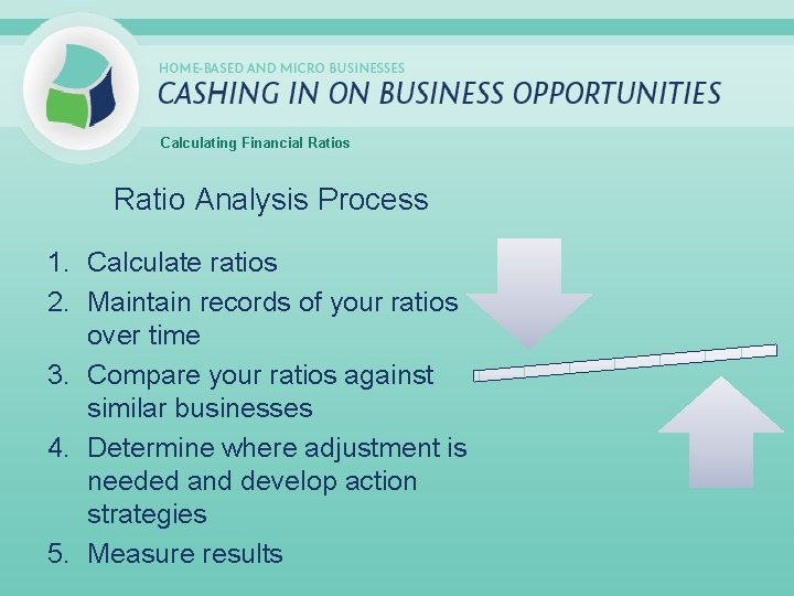 Calculating Financial Ratios Ratio Analysis Process 1. Calculate ratios 2. Maintain records of your