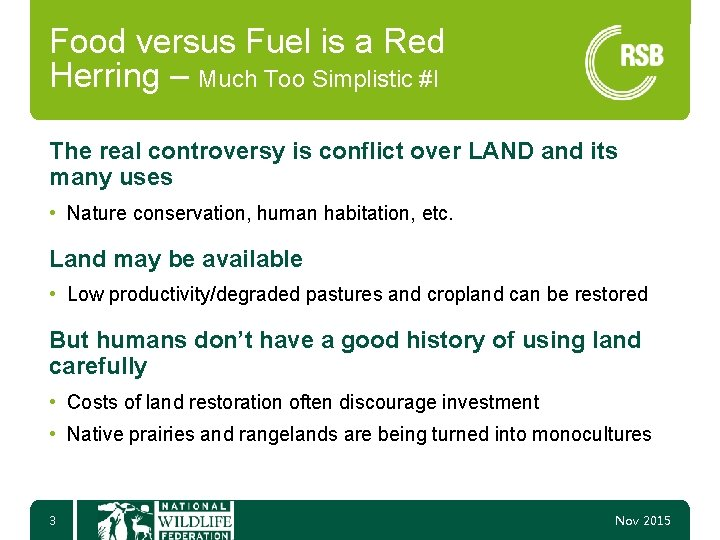 Food versus Fuel is a Red Herring – Much Too Simplistic #I The real