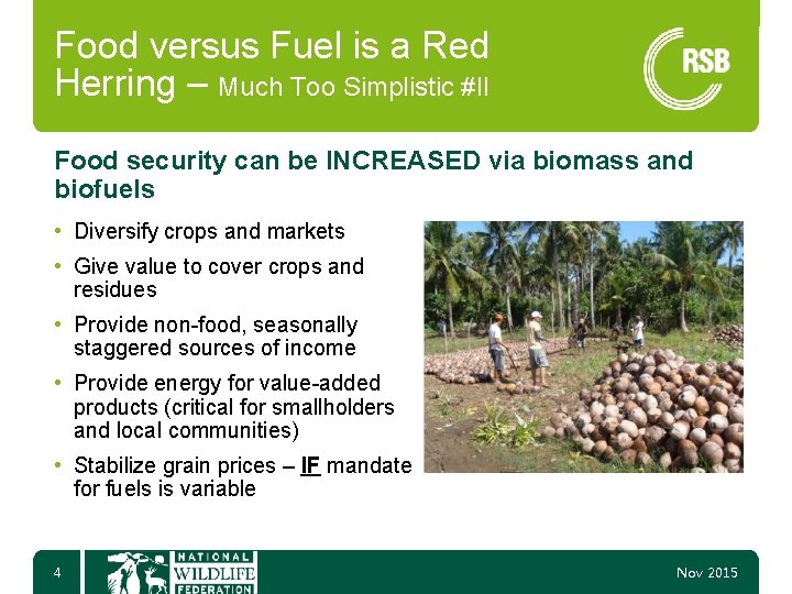 Food versus Fuel is a Red Herring – Much Too Simplistic #II Food security
