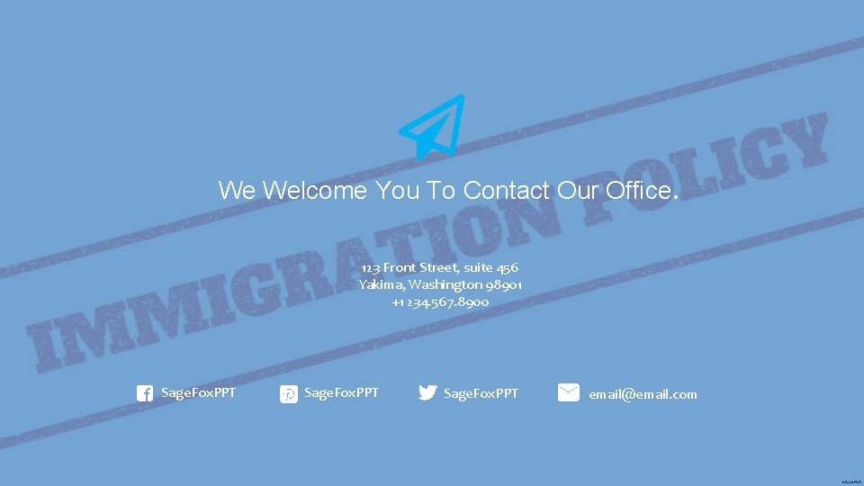We Welcome You To Contact Our Office. 123 Front Street, suite 456 Yakima, Washington
