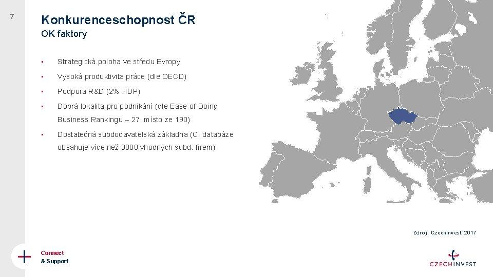NORWAY 7 Konkurenceschopnost ČR OK faktory • Strategická poloha ve středu Evropy • Vysoká
