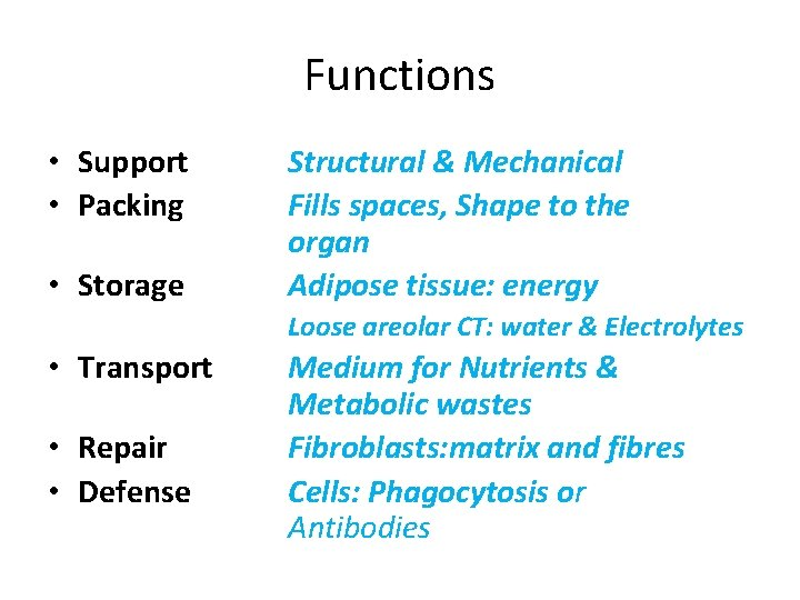 Functions • Support • Packing • Storage Structural & Mechanical Fills spaces, Shape to