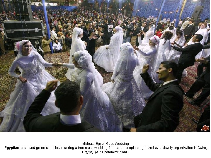 Mideast Egypt Mass Wedding Egyptian bride and grooms celebrate during a free mass wedding