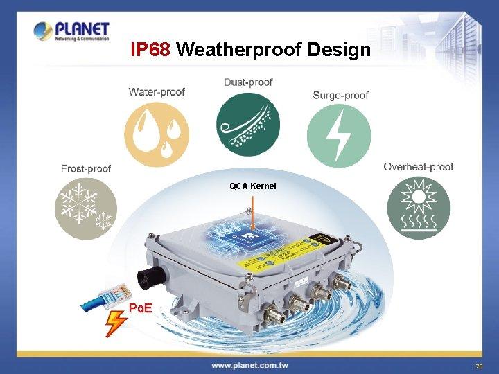 IP 68 Weatherproof Design QCA Kernel Po. E 28