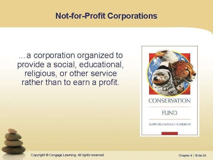 Not-for-Profit Corporations …a corporation organized to provide a social, educational, religious, or other service