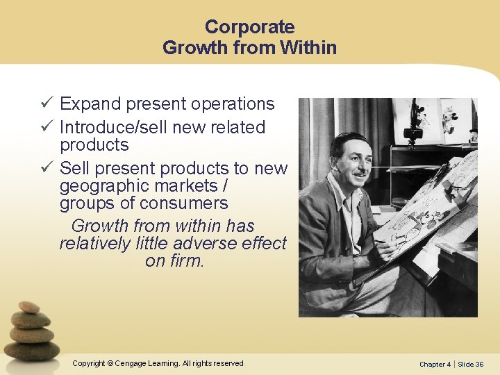 Corporate Growth from Within ü Expand present operations ü Introduce/sell new related products ü