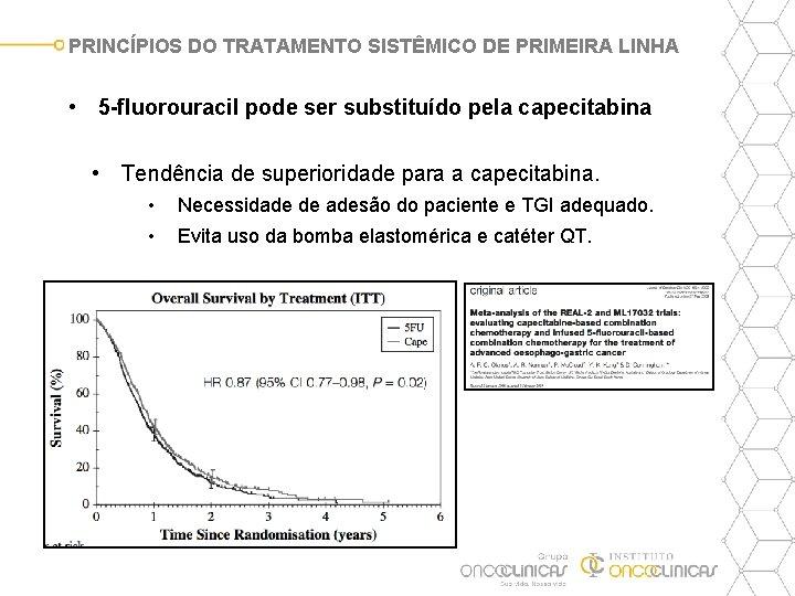 PRINCÍPIOS DO TRATAMENTO SISTÊMICO DE PRIMEIRA LINHA • 5 -fluorouracil pode ser substituído pela