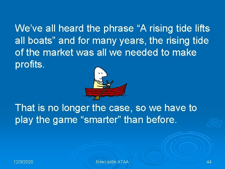 """We've all heard the phrase """"A rising tide lifts all boats"""" and for many"""