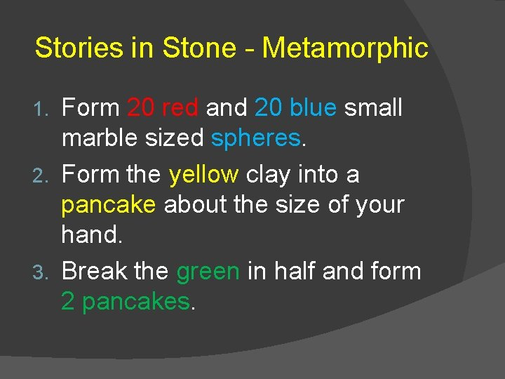 Stories in Stone - Metamorphic Form 20 red and 20 blue small marble sized