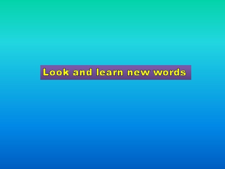 Look and learn new words