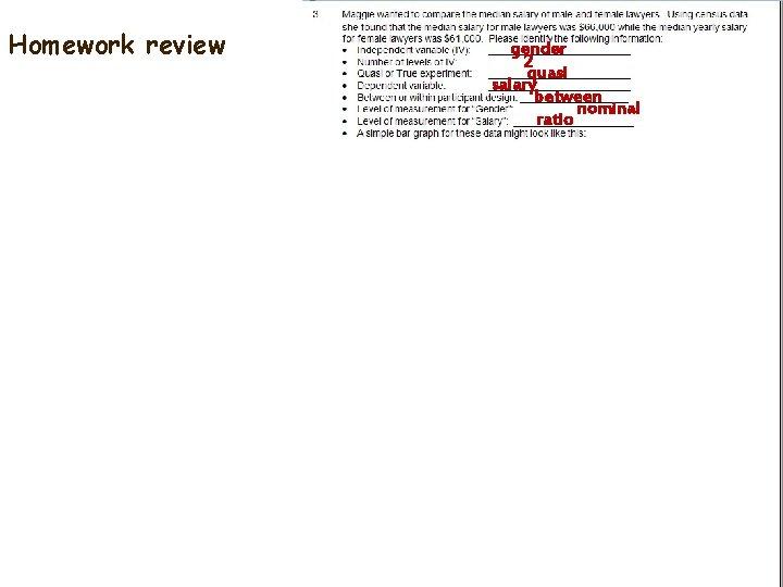 Homework review gender 2 quasi salary between nominal ratio