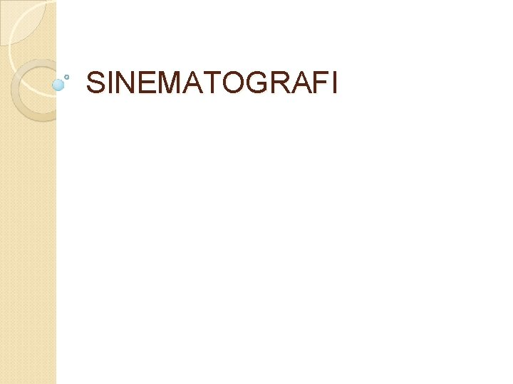 SINEMATOGRAFI