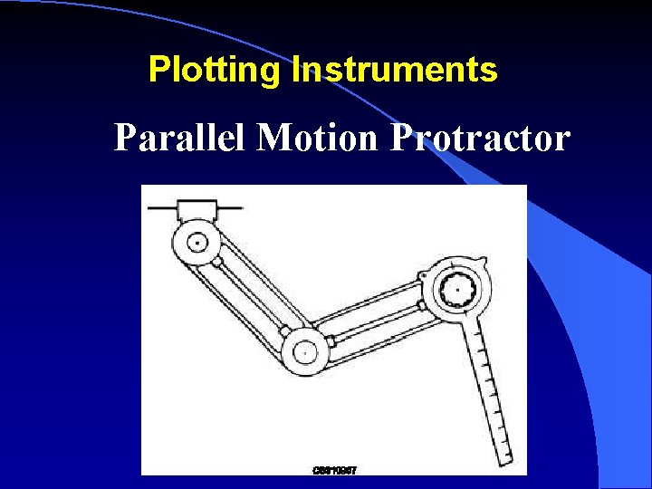 Plotting Instruments Parallel Motion Protractor