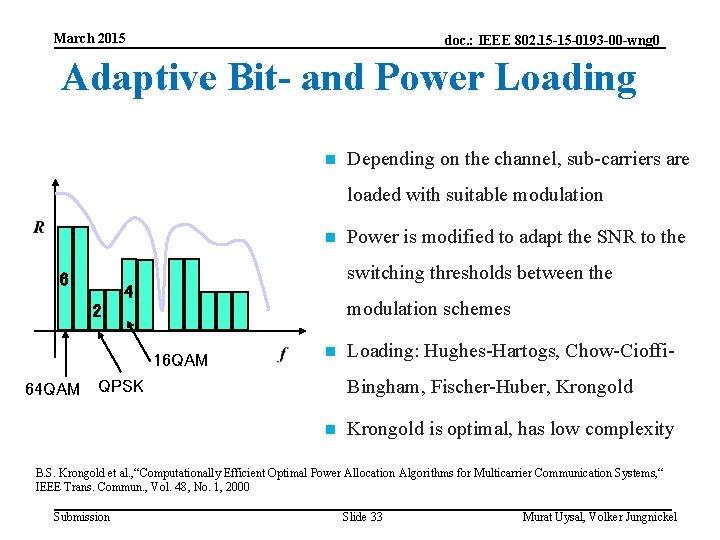 March 2015 doc. : IEEE 802. 15 -15 -0193 -00 -wng 0 Adaptive Bit-