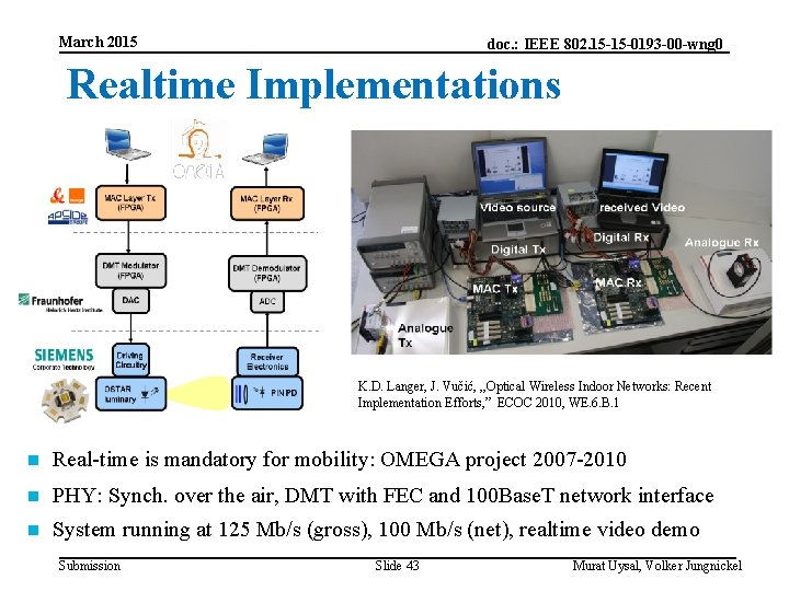 March 2015 doc. : IEEE 802. 15 -15 -0193 -00 -wng 0 Realtime Implementations