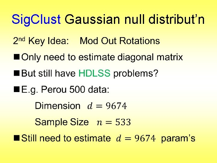 Sig. Clust Gaussian null distribut'n •