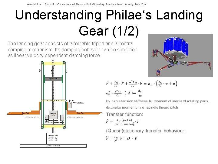 www. DLR. de • Chart 17 10 th International Planetary Probe Workshop, San Jose