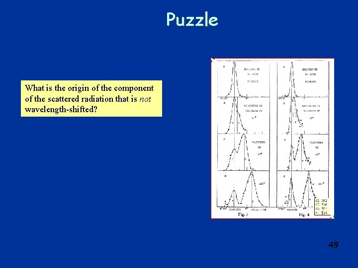 Puzzle What is the origin of the component of the scattered radiation that is