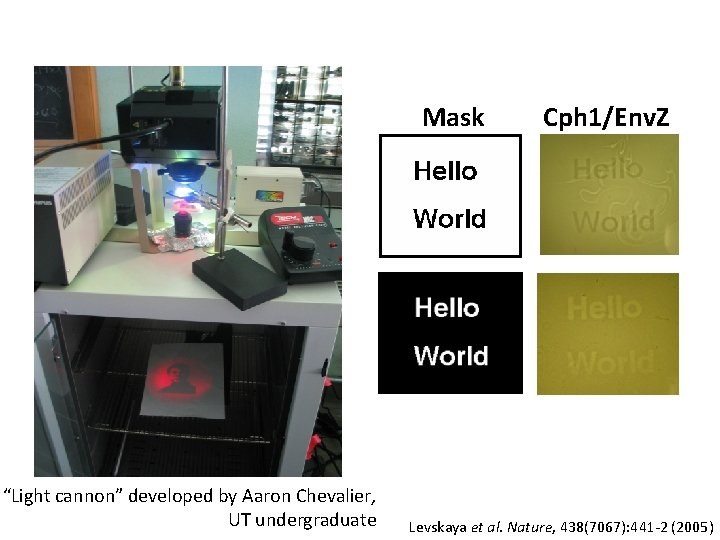 "Mask ""Light cannon"" developed by Aaron Chevalier, UT undergraduate Cph 1/Env. Z Levskaya et"